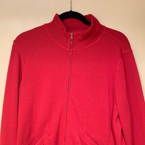 Facconable Zip Up Red Sweater